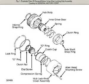 warn locking hub parts schematic warn locking hubs f250