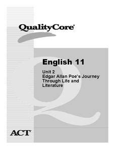 edgar allan poe biography lesson plan edgar allan poe s journey through life and literature unit