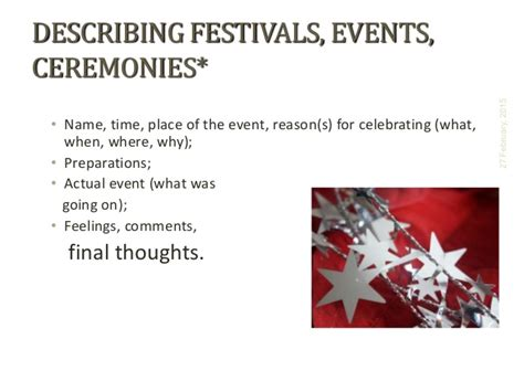 descriptive essay sle about an event describing an event