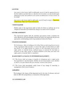 vehicle lease agreement template vehicle lease agreement template free