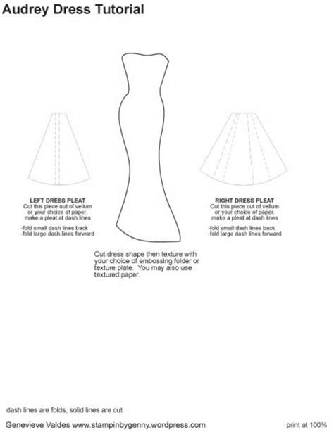 dress card template dress card tutorial images
