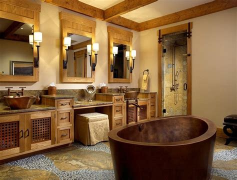 Cabin Bathrooms Ideas Dise 241 O Ba 241 Os Rusticos Y Creatividad M 225 S De 50 Ideas