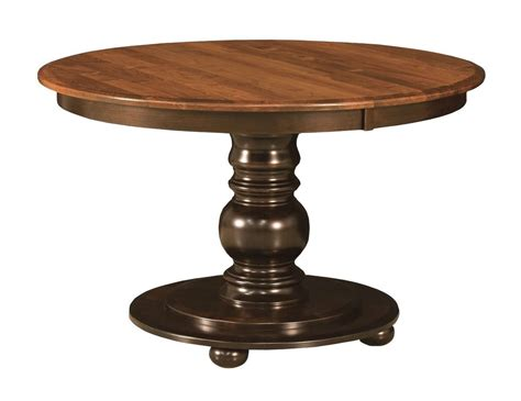 Kitchen Pedestal Table Amish Pedestal Dining Table Black Traditional Kitchen Solid Wood 42 Quot 48 Quot Ebay