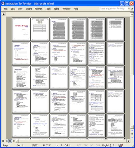Tender Specification Template by Invitation To Tender Itt Template 57 Page Ms Word
