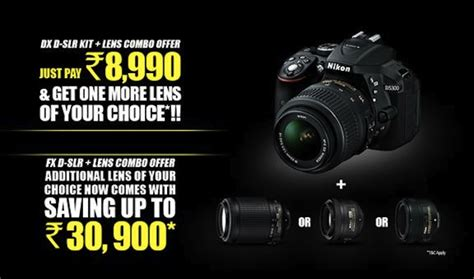 nikon india announces dslr lens combo offer   dx