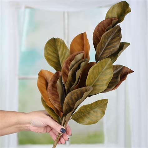 artificial magnolia leaves artificial magnolia leaf spray picks and stems floral