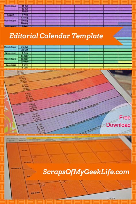 free editorial calendar template free editorial calendar template for your