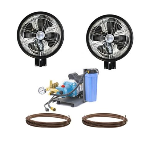 high pressure misting fan 2 high pressure 18 quot oscillating misting fan wall mount