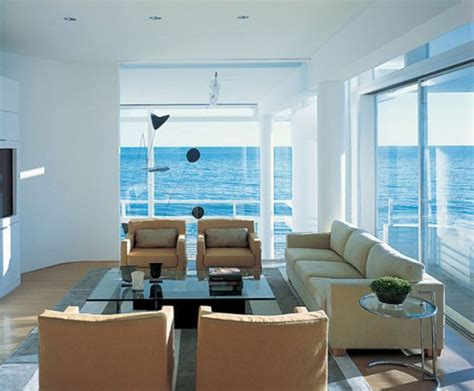 beach house living room interior design gallery modern beach house california