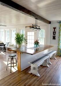 remodelaholic diy built in breakfast bar dining table