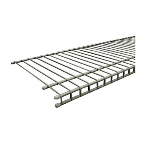 Closetmaid Nickel Wire Shelving Closetmaid Superslide 72 In X 12 In Nickel Ventilated