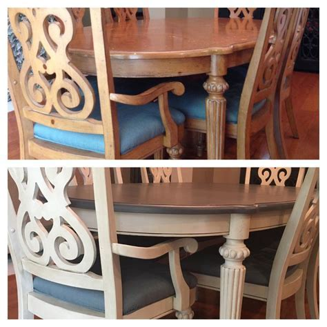 Dining Table and chairs Valspar Chalky Finish Paint Top