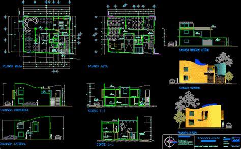 family restaurant  dwg design section  autocad