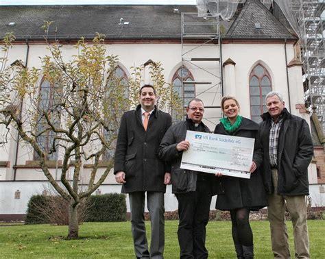 vr bank germersheim vr bank s 252 dpfalz spendet 1 000 f 252 r turmsanierung der
