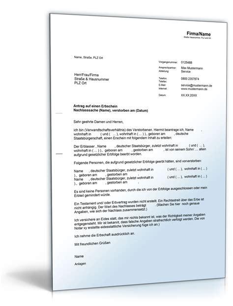 Brief Antrag Auf Elternzeit Antrag Auf Einen Erbschein De Musterbrief