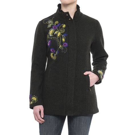 design an embroidered jacket icelandic design pastorale embroidered jacket for women