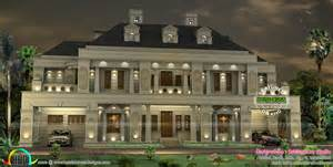 like home design palace like colonial home kerala home design and floor plans
