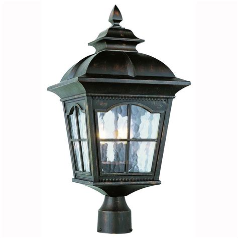 Lantern Post Light Outdoor Bel Air Lighting Bostonian 3 Light Outdoor Antique Rust Post Top Lantern With Water Glass 5422