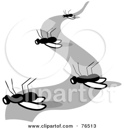 Clipart of a Cartoon White Man, Surrounded by Insects ... Insect Drawings Clip Art