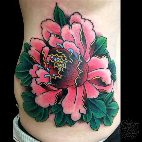 peony tattoo 43 japanese peony tattoos collection