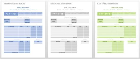 template for payroll check stub 15 free payroll templates smartsheet