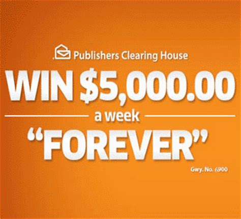 Pch 7 000 A Week For Life - publishers clearing house 5000 a week for life sweepstakes
