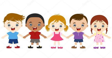 imagenes niños tomados de la mano lindos multiculturales ni 241 os tomados de la mano vector