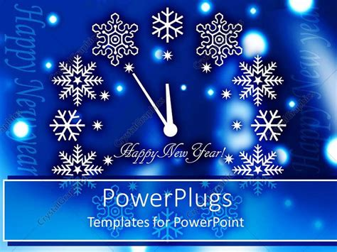 powerpoint templates new year powerpoint template happy new year clock with various
