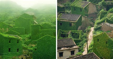 abandoned fishing village in china being eaten by nature