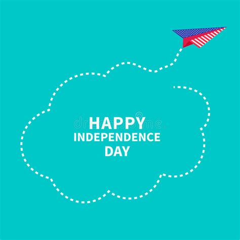 Independence Day Usa Essay by Happy Independence Day United States Of America 4th Of July Paper Plane Stock Vector Image