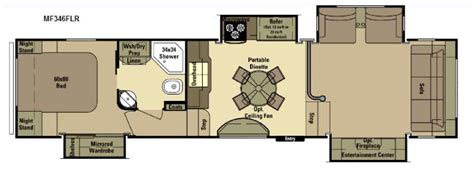 open range toy hauler floor plans new 2016 open range rv mesa ridge mf346flr fifth wheel at