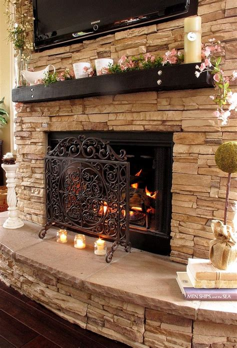 Rock Fireplace | 34 beautiful stone fireplaces that rock