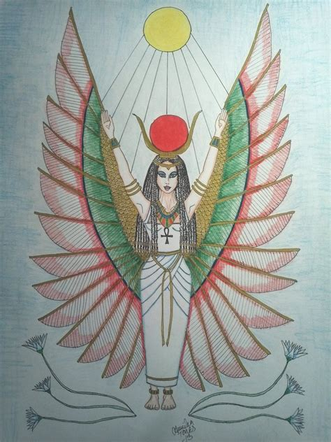 the egyptian goddess isis by tonez2 on deviantart
