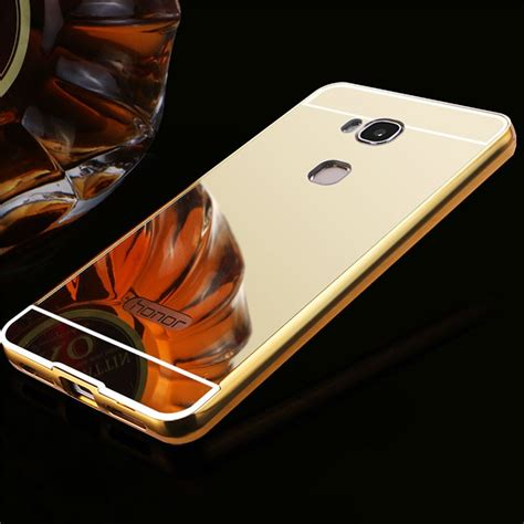 Metal Back Cover Huawei Honor 5x Gr5 Casing Bumper Aluminium Hardcase huawei honor play 5x metal frame mirror back cover protective gold 12610 9 99
