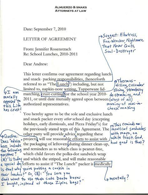 Letter Of Agreement For School school lunch debate dinner a storydinner a story