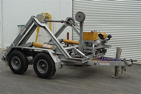 cable trailer 6t winch hire cable handling