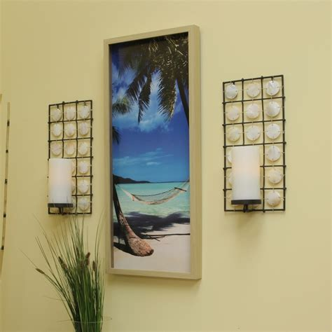 battery powered outdoor ls pacific accents equinox seashell sconce with flameless candle