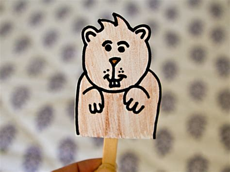 groundhog day kid friendly kid craft make a groundhog shadow puppet