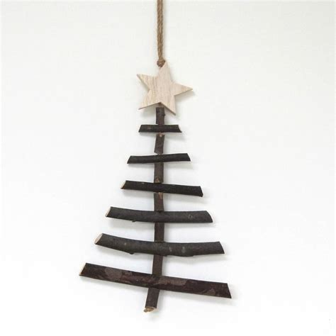 medium wooden twig hanging christmas tree by chapel cards