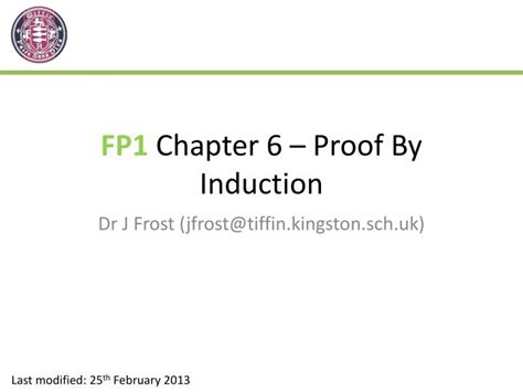 define proof by induction ppt fp1 chapter 6 proof by induction powerpoint presentation id 2219062