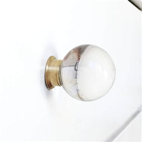 glass knobs and pulls glass and brass round knob pulls lucite
