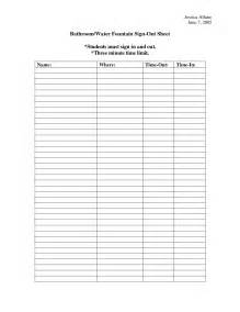 Bathroom Sign Out Sheet 8 Best Images Of Bathroom Sign In Sheet Printable