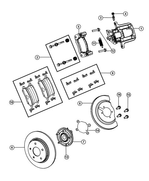 diagram of brake caliper assembly 2010 dodge journey caliper assembly remanufactured disc