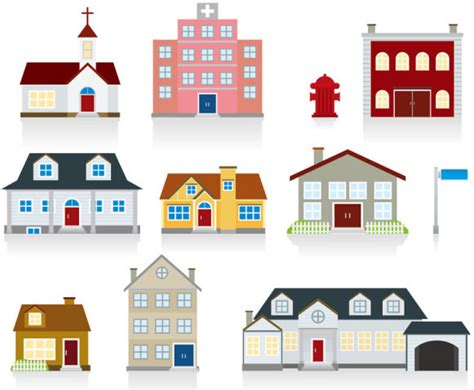 free cartoon house pictures house cartoon vector different cartoon houses elements vector free vector in