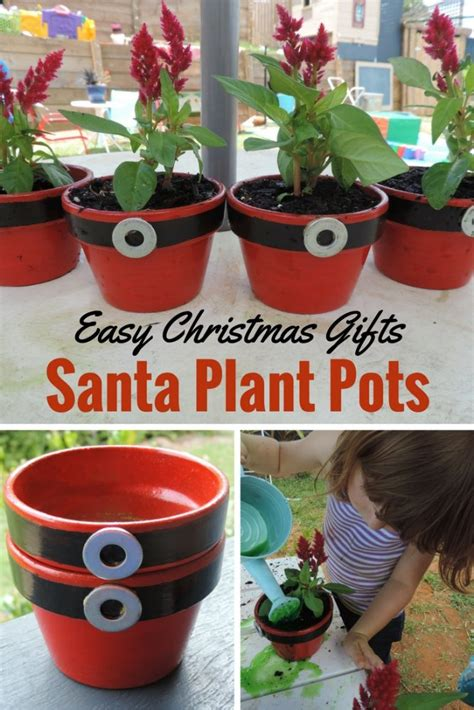 easy christmas gift for children to paint plant and give