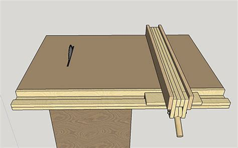 homemade table  fence  woodworking blog