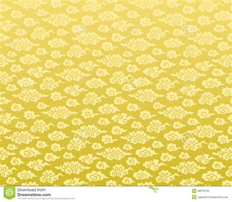 chinese gold pattern vector chinese cloud seamless background stock vector image
