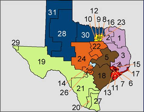 texas senate districts map tracking the popular vote tuesday the key is who wins each of texas 31 senatorial
