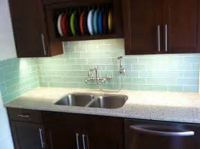 Subway Tile In Kitchen Backsplash Surf Glass Subway Tile Kitchen Backsplash 2 Subway Tile