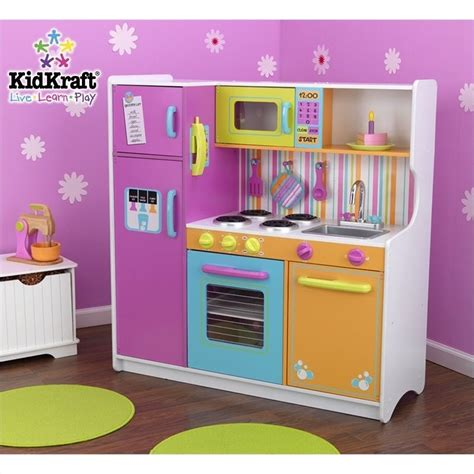 Play Kitchen For Toddlers by Kidkraft Deluxe Big Bright Play Kitchen Ebay